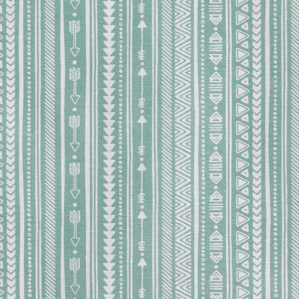 Dekostoff Beschichtet Ethno – mintgrün