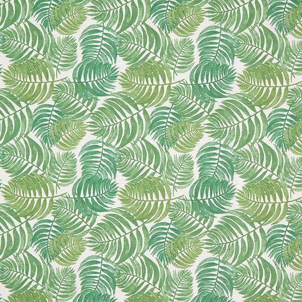 Tissu de décoration Canvas Fougères & Feuilles – crème/vert herbe