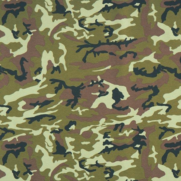 Tissu de décoration Canvas Camouflage – kaki/olive