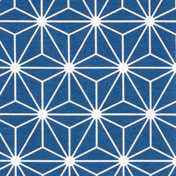 Tissu de décoration Canvas Étoile graphique – bleu marine