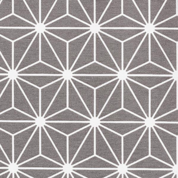 Tissu de décoration Canvas Étoile graphique – gris