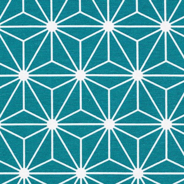 Tissu de décoration Canvas Étoile graphique – pétrole