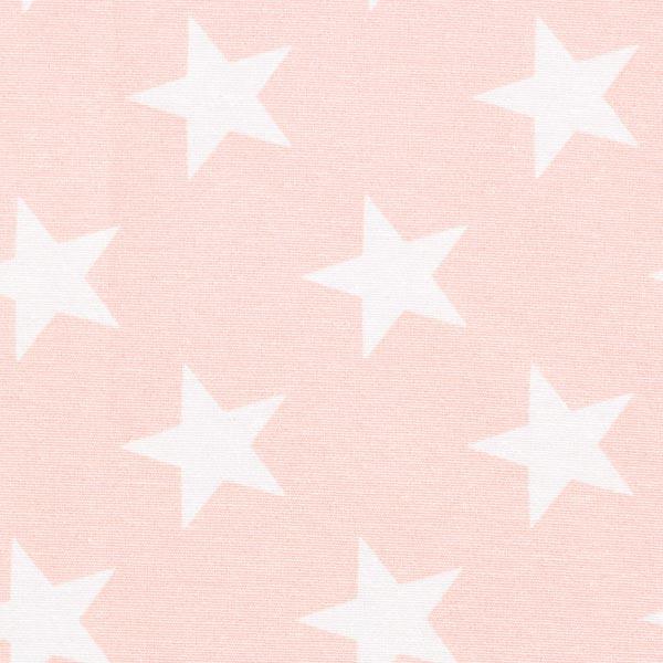 Dekostoff Canvas Sterne – rosa/weiss