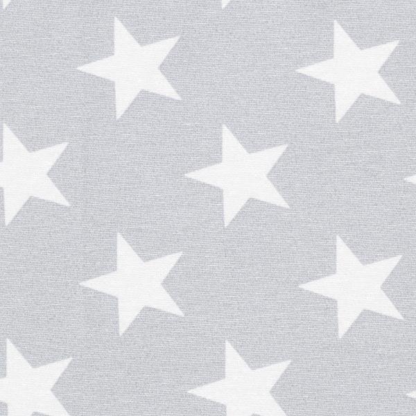 Tissu de décoration Canvas Étoiles – gris/blanc