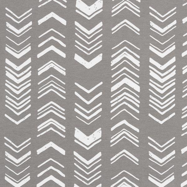 Tissu de décoration Canvas Ethno Flèches – gris