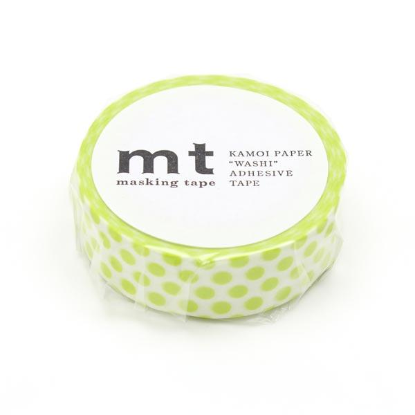Washi Tape Punkte – weiss/gelb | Masking Tape