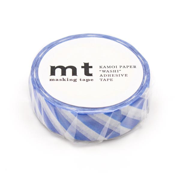 Masking Tape Rayures – bleu/blanc