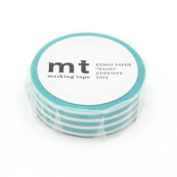 Washi Tape Streifen – türkis/weiss | Masking Tape