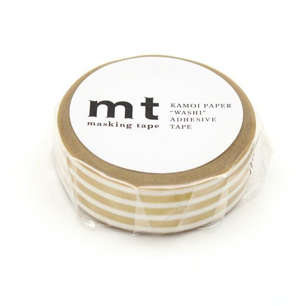 Washi Tape Streifen – gold/weiss   Masking Tape