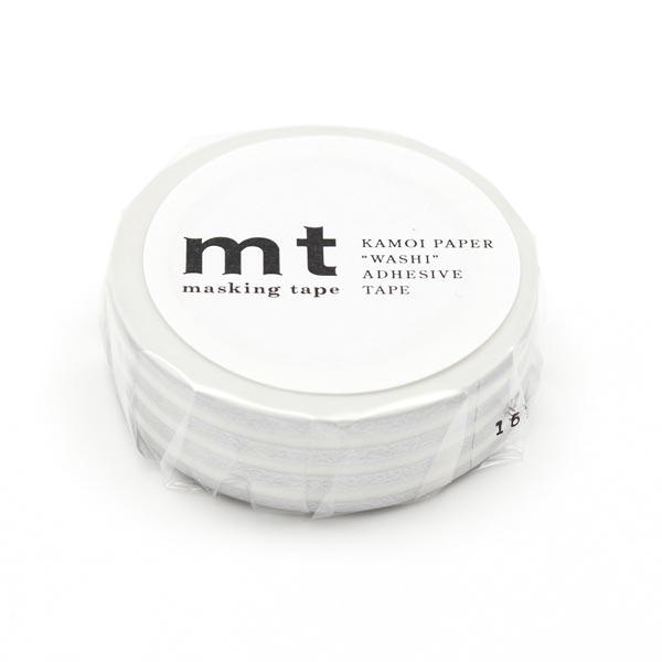 Masking Tape Rayures – argent/blanc