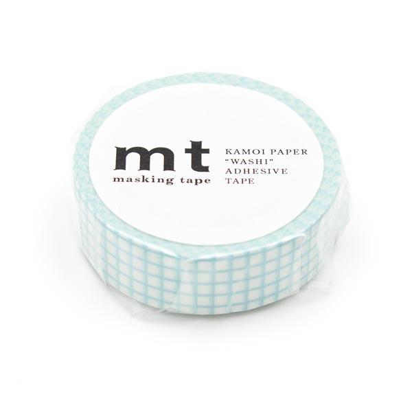 Masking Tape à carreaux – blanc/vert menthe