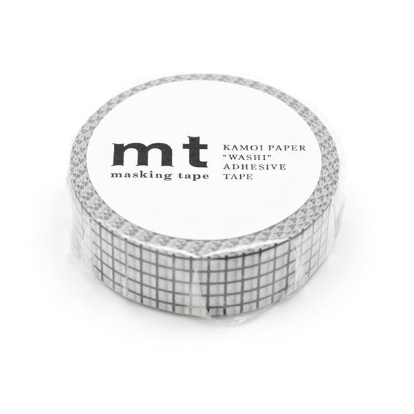 Masking Tape à carreaux – blanc/noir
