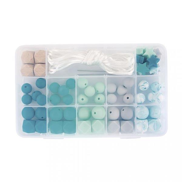 Boîte de perles en silicone | Rayher – vert menthe
