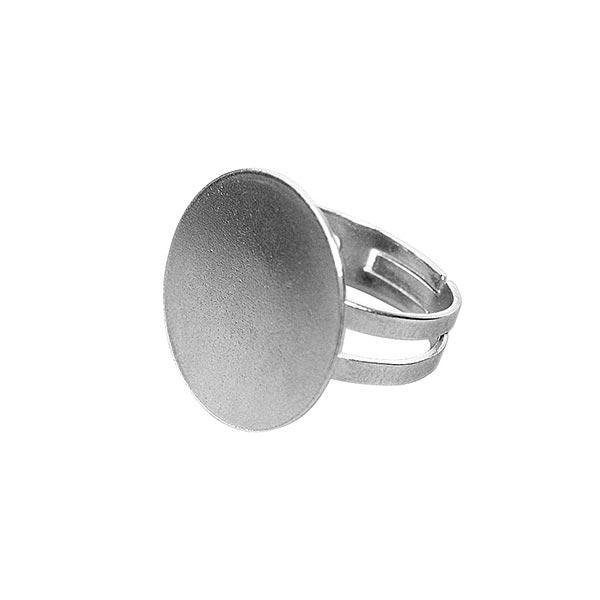 Ringschiene mit Platte Platin [ ø 20 mm]   Rayher