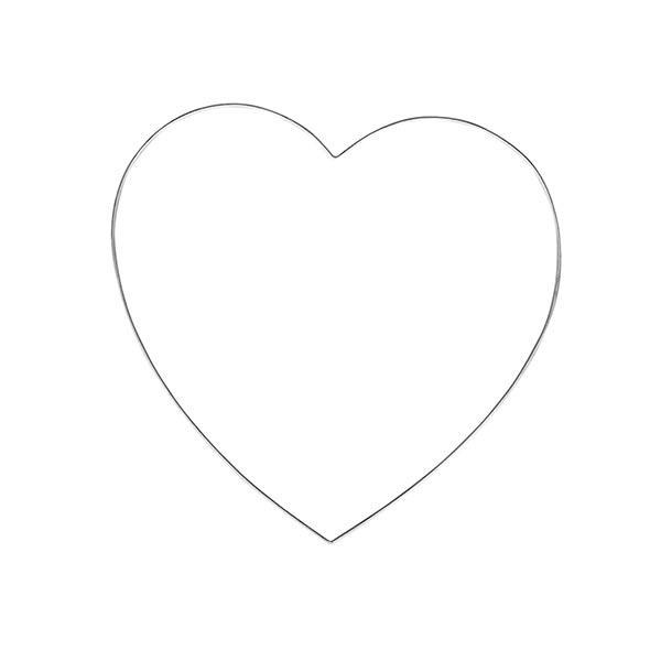 Cœur en fil métallique [ 25 cm ø ] | Rayher