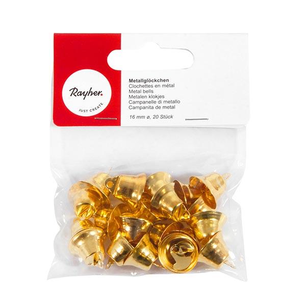 Metallglöckchen Set [ 16 mm ] | Rayher – gold