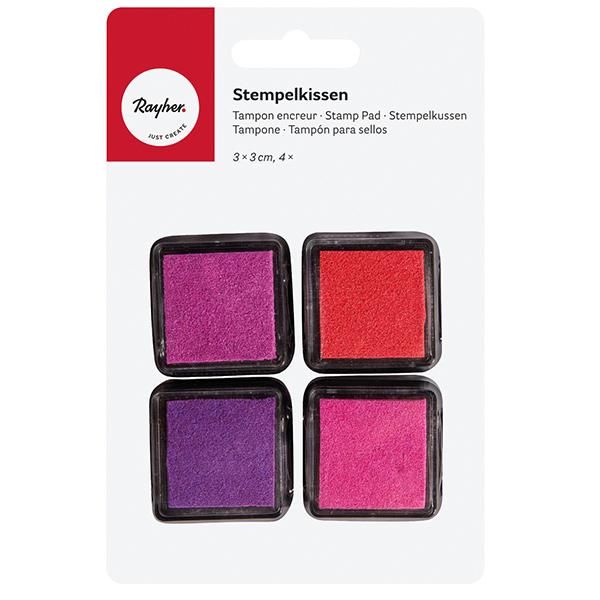 Tampons & tampons encreurs Set  – rose vif/rouge
