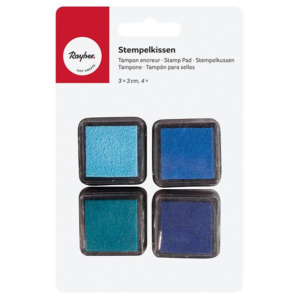 Tampons & tampons encreurs Set  – bleu