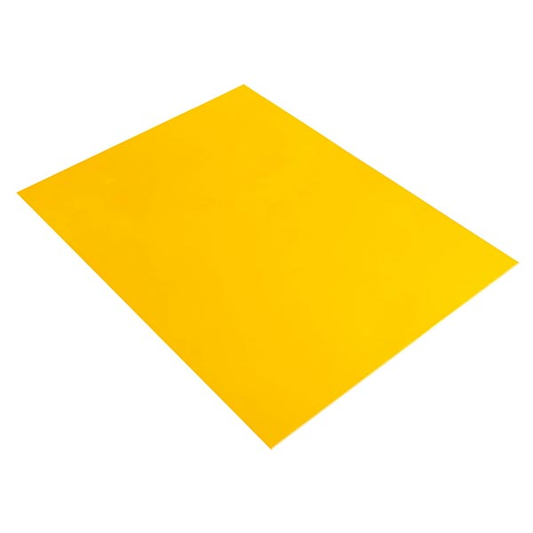 Moosgummi Platte [ 20 x 30 cm ] | Rayher – sonnengelb