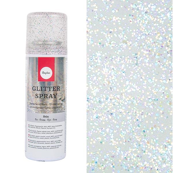 Spray scintillant – bleu acier/violet