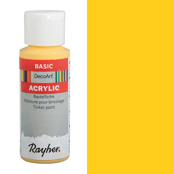 Peinture de bricolage acrylique [ 59 ml ] – jaune soleil