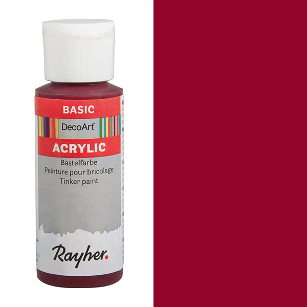 Acrylic-Bastelfarbe [ 59 ml ] – rot