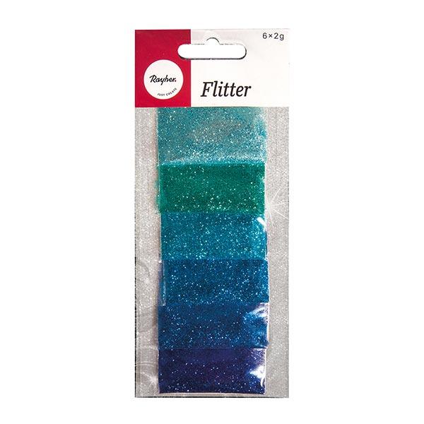 Paillettes Set  [ 6 x 2g ] – bleu/turquoise