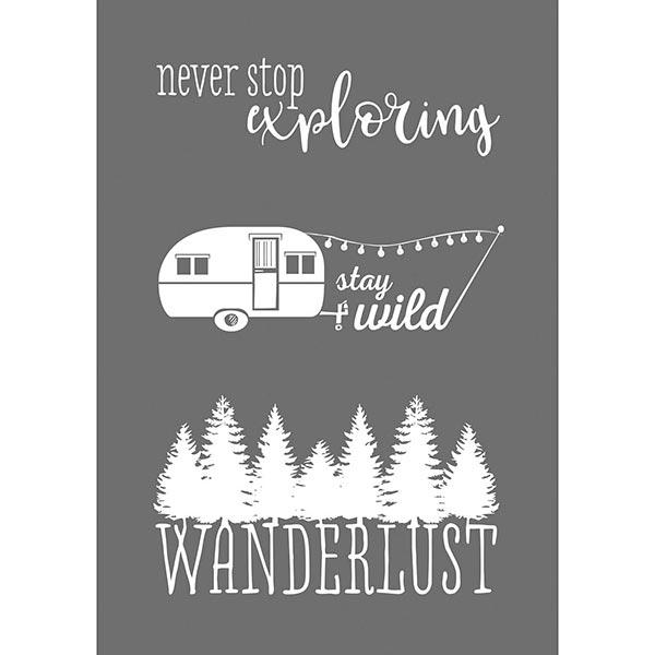 Pochoir Wanderlust [A5] | Rayher