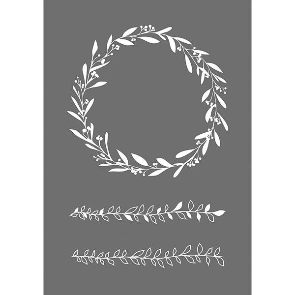 Schablone Blätterranken [A5] | Rayher