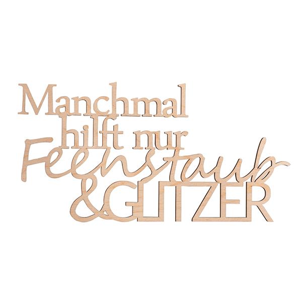 """Ecriture en bois """"Feenstaub&Glitzer"""""""