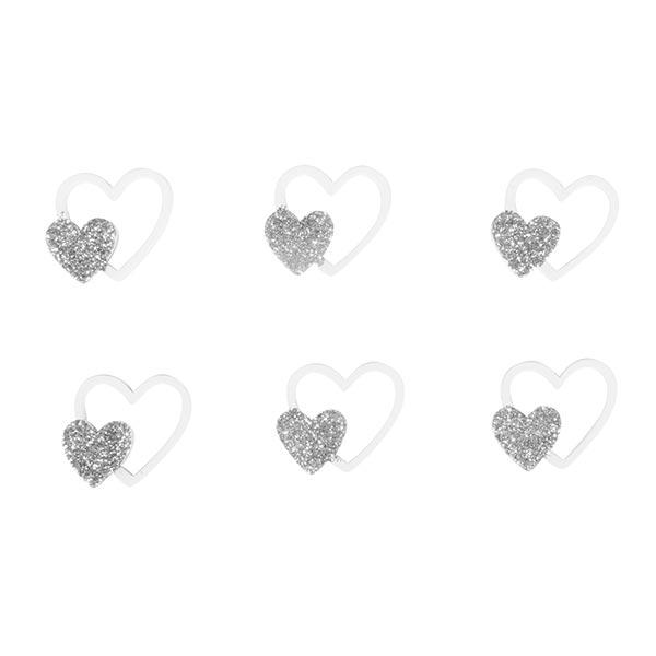 Bois Petits sujets Cœurs Set [ 12Pièces ] | Rayher – argent