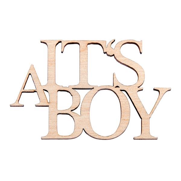 Bois Ecriture miniature It's a Boy [4 Pièces] | Rayher – nature