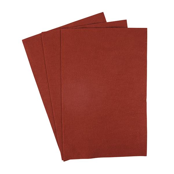 Filzplatte [20 x 30 cm] - rotbraun