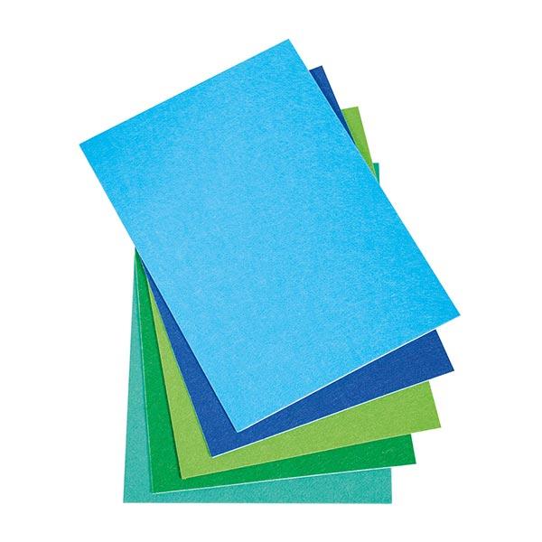 Bastelfilz selbstklebend Set [ 5 Stück] – blau/grün