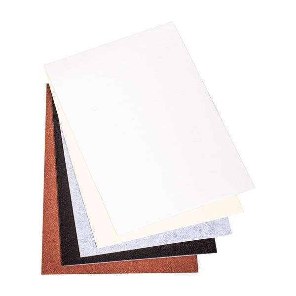 Feutre de bricolage auto-adhésif Set [ 5 Pièces] – blanc/marron