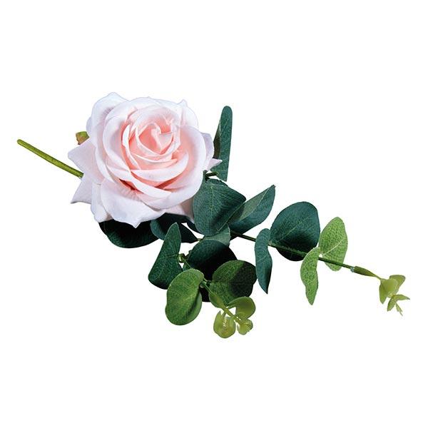 Rosen Kunstblume mit Eukalyptus   Rayher – rosa