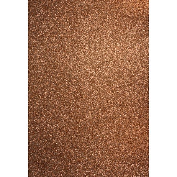 Carton de bricolage Paillettes A4 – chocolat