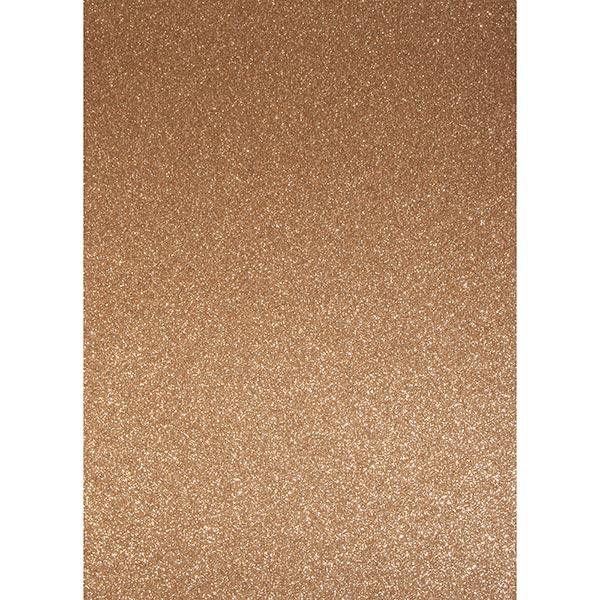 Carton de bricolage Paillettes A4 – bronze