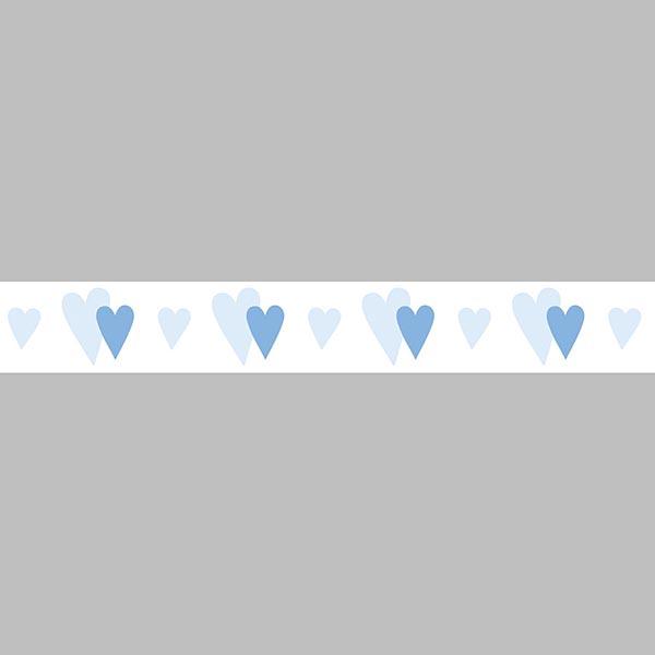 Ruban Petits cœurs   Rayher – bleu clair