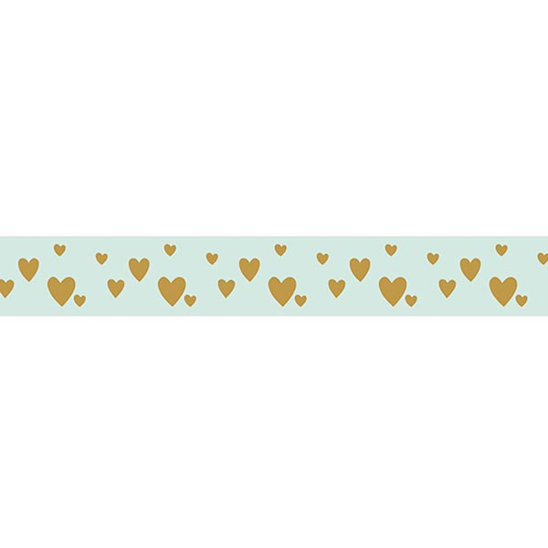 Ruban Petits cœurs | Rayher – vert menthe