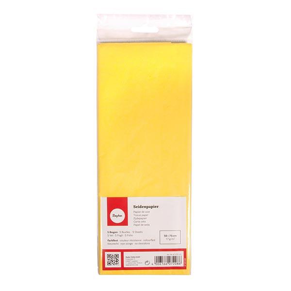 Seidenpapier Set [ 5 Stück] – gelb