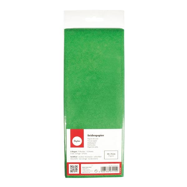 Seidenpapier Set [ 5 Stück] – grasgrün