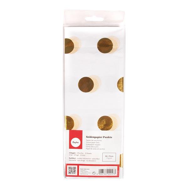 Papier de soie Points Set [ 3 Pièces] – or