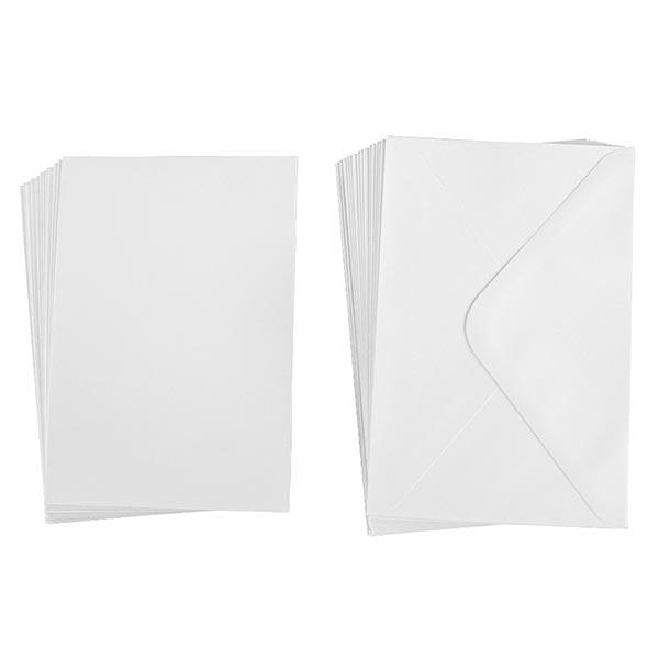 Cartes B6 Set [ 30Pièces ]   Rayher – blanc
