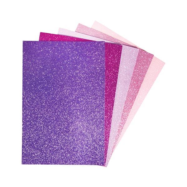 Caoutchouc mousse Paillettes sur plaques, auto-adhésif [ 5 Pièces ] | Rayher – violet/rose