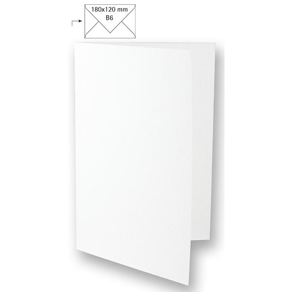 Carte B6 – blanc