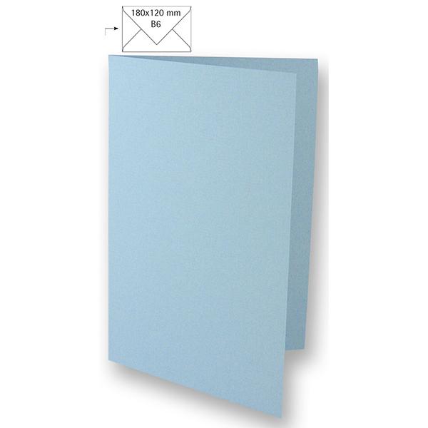Carte B6 – bleu bébé
