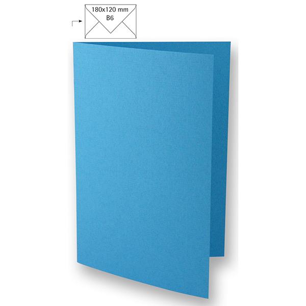 Carte B6 – bleu aqua
