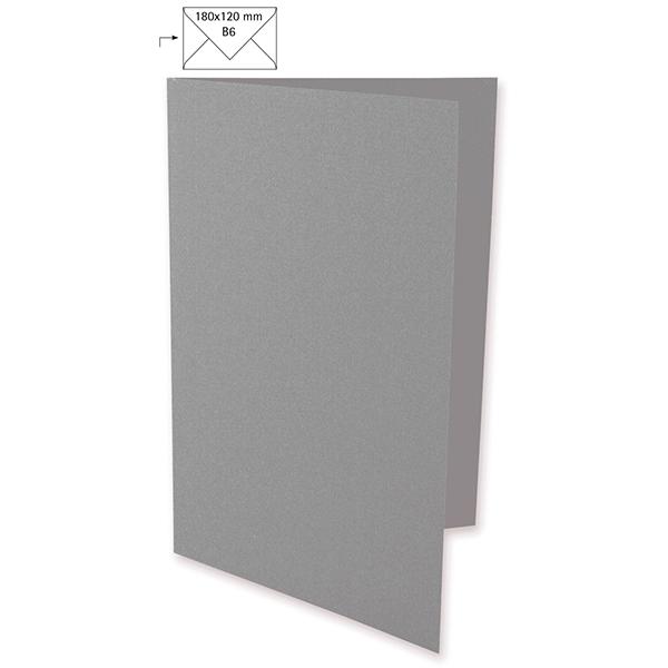 Karte B6 [ 5 Stück ] – dunkelgrau