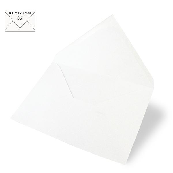 Briefumschlag B6 [ 5 Stück ]  – weiss